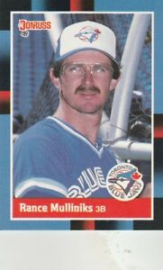 FREE-SHIPPING-MINT-1988-Donruss-Toronto-Blue-Jays-Baseball-197-Rance-Mulliniks
