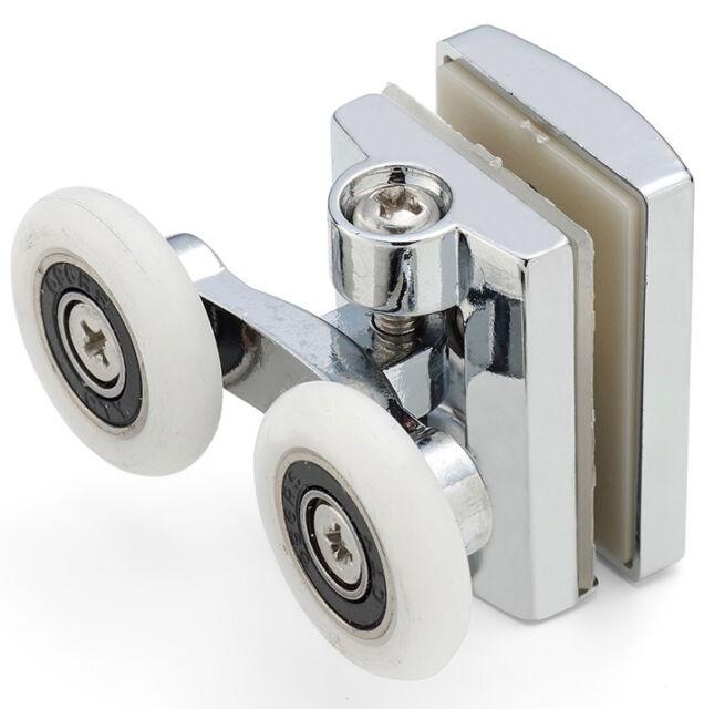 2x 23mm Heavy Duty Twin Top//Buttom Shower Door Wheels Rollers Runners  ^ #