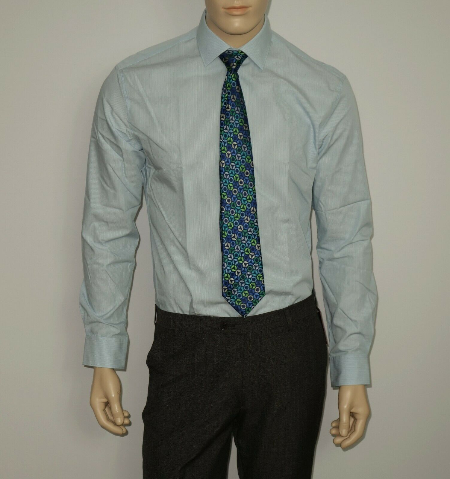 NEW John Varvatos Dress Shirt in Stonehedge 15x34-35 SLIM Fit Button-Down