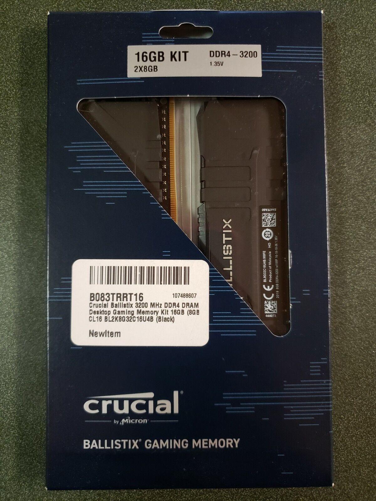 Crucial Ballistix 16GB Kit (2 x 8GB) DDR4-3200 Desktop Gaming Memory CL16. Buy it now for 60.00