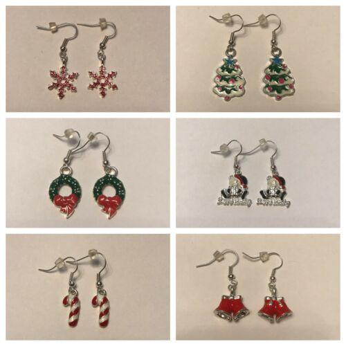 Christmas Dangle Enamel Earrings Please choose from the list
