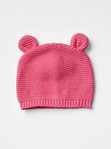 bb8b592fd3c5d GAP Baby Girl Size 6-12 Months Pink Bear   Animal Garter Knit ...