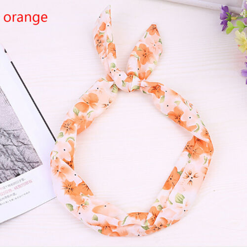 1//4 Pcs cute baby girl flower with floral rabbit ears hair band~SL