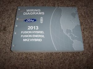 2013 ford fusion hybrid electrical wiring diagram manual se titanium rh ebay com 2015 ford fusion hybrid manual 2013 ford fusion hybrid repair manual