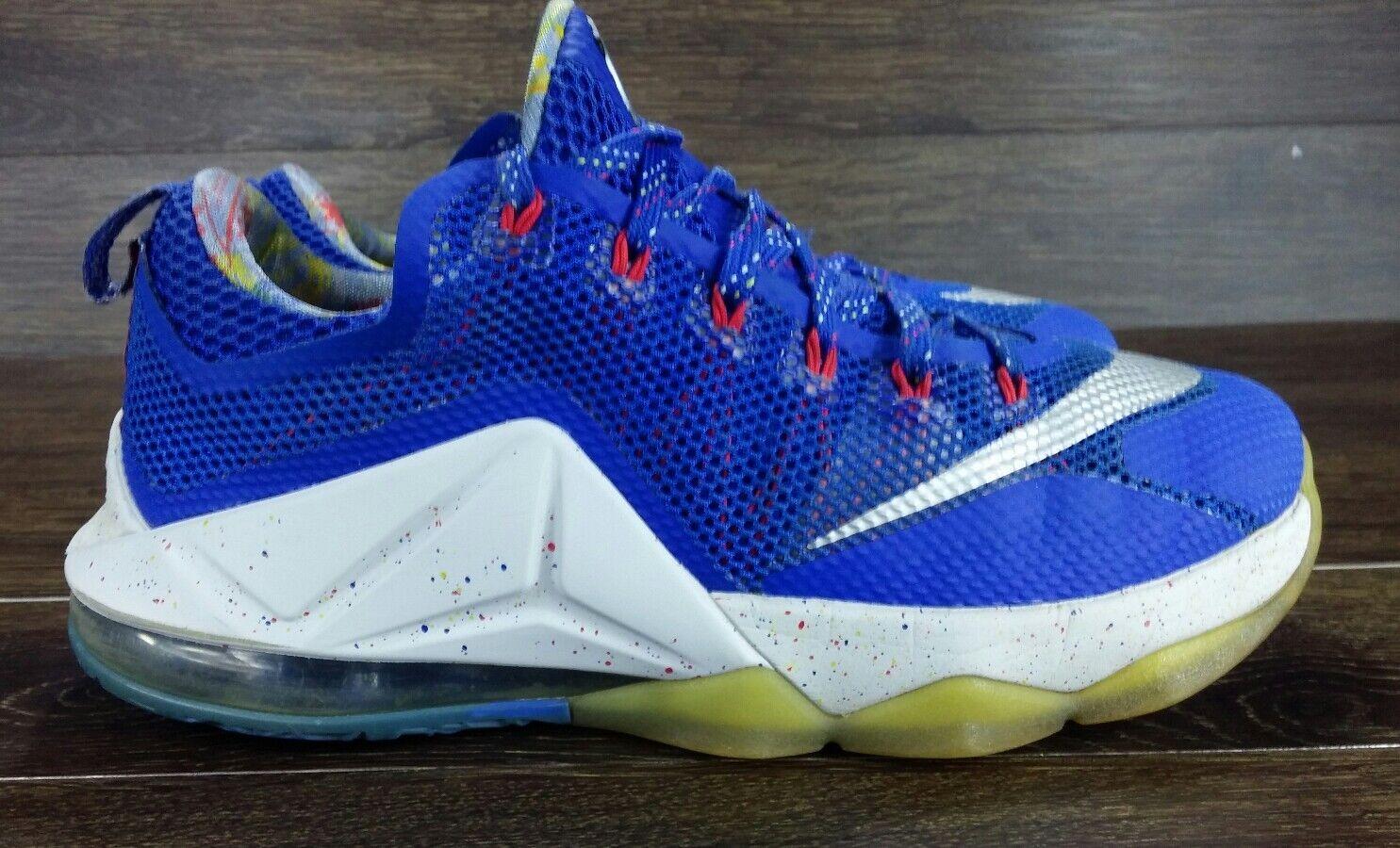 200 Nike Lebron XII 12 Low Hyper Cobalt 812560-406 Men's Size US 11 Eu 45 bluee