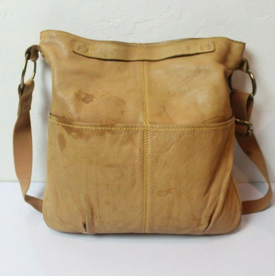49 Square Miles Tan Leather Bag Hobo Large Bag - image 2