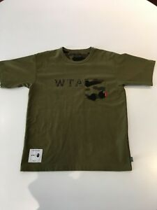 2a00b98f Image is loading WTAPS-X-A-BATHING-APE-SIZE-S-OLIVE-COLOR