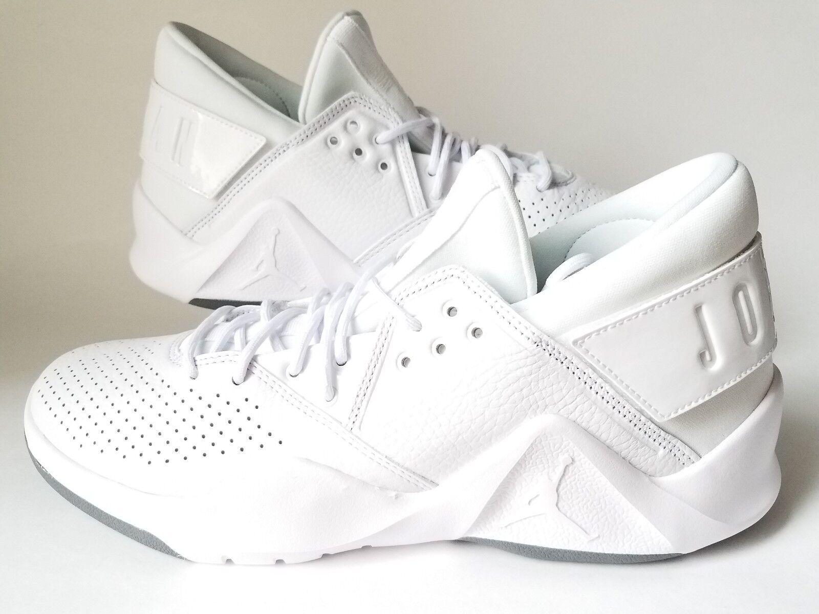 low priced e9ef2 ba4b0 Nike Jordan Flight Fresh PREM Premium Low White White White Men Basketball  shoes size 10 614bbc