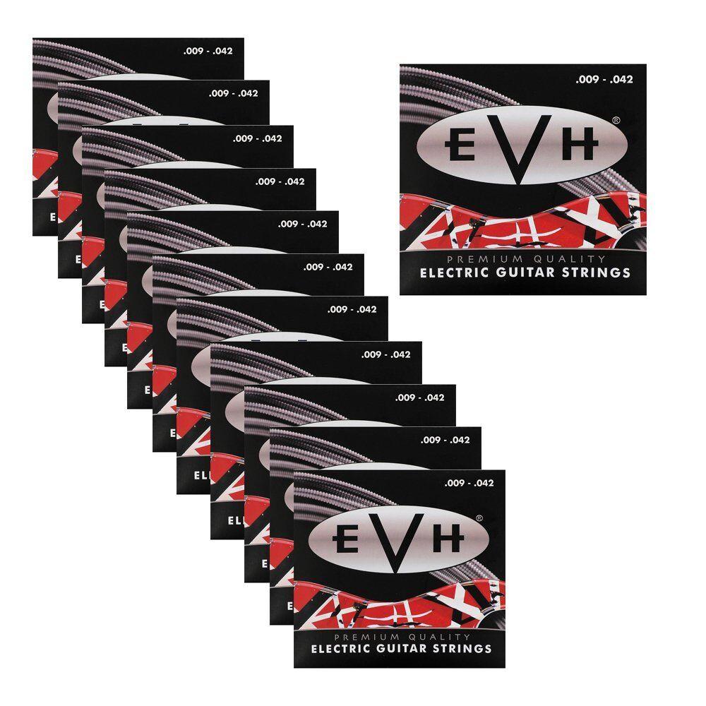 12 Sets Packs of EVH 942 Eddie Van Halen Premium Electric Guitar Strings (09-42)