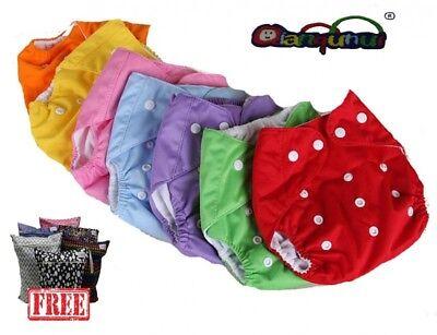 Abile Pannolini Lavabili Pocket 5 Pezzi + 5 Inserti - Omaggio Wet Bag - Stock