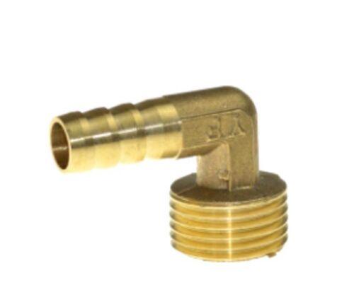 """Codo De Latón 10 mm Manguera Cola 1//2/"""" Adaptador de conector macho BSP rosca de montaje"""