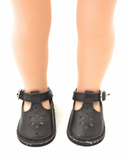 Brown Mary Jane Shoes for 14.5 inch American Girl Wellie Wishers Dolls