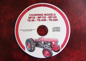 "Massey Ferguson Mf35, Mf135, Mf148, Te20 ""fergie"" Workshop Service Repair Manual-afficher Le Titre D'origine Gy3snbtj-07212551-666870701"