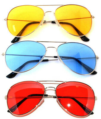DG Eyewear Aviator Fashion Sunglasses Women Red Blue Purple Silver Frames New