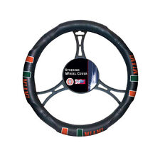 New NCAA Miami Hurricanes Synthetic Leather Car Truck Steering Wheel Cover