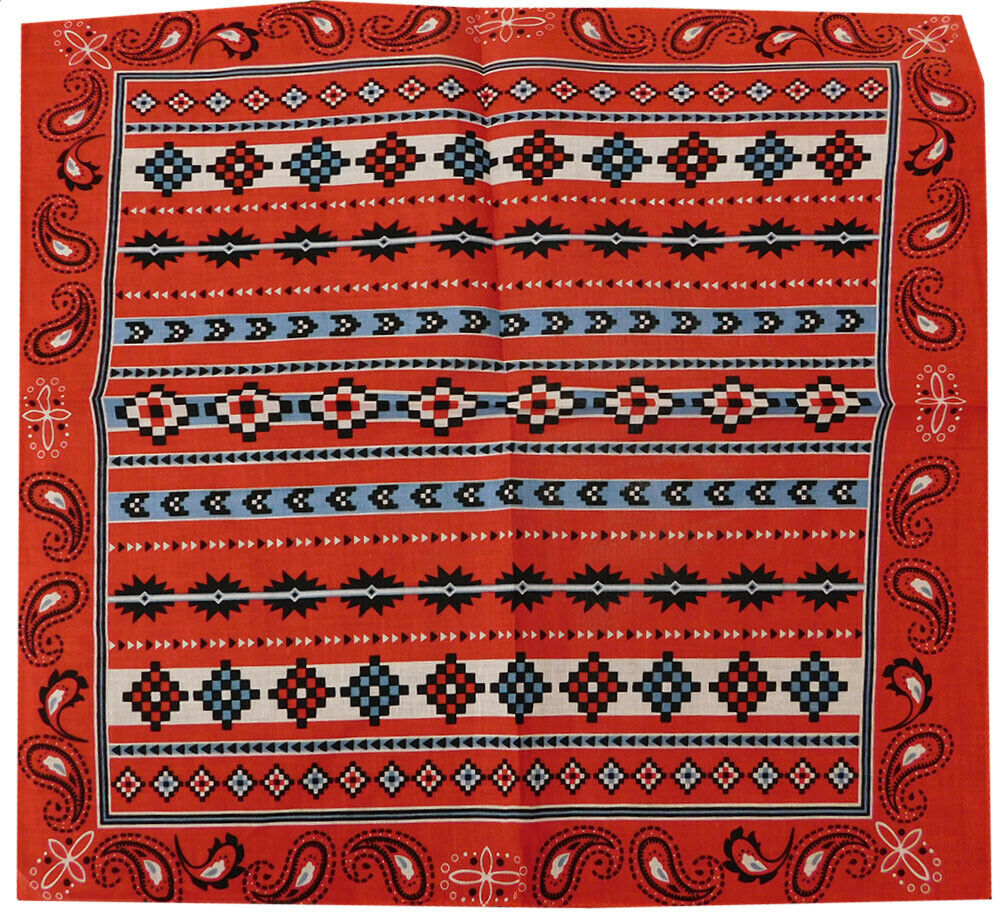 Wholesale Lot of 3 Tribal Aztec Paisley Red 22