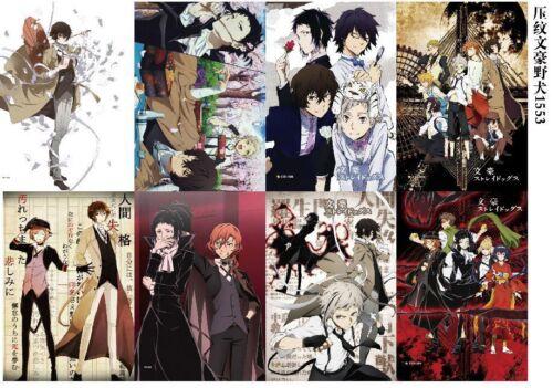 Poster 8PCS//set Anime Bungou Stray Dogs A3 Posters Print