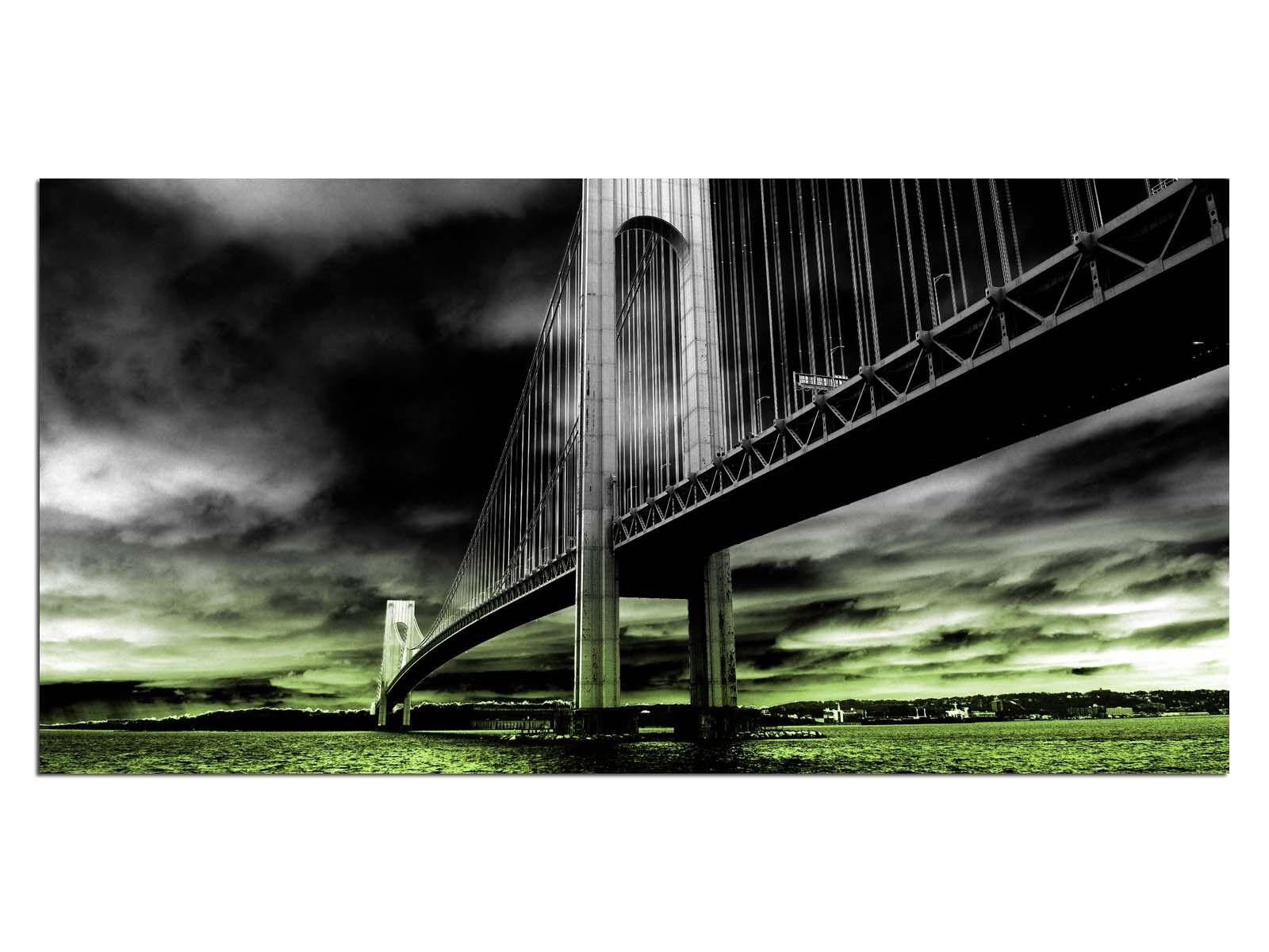 Deco De Vidrio Imagen eg4100500992 Puente océano verde Tamaño 39,37  X 19,68  Hd Print