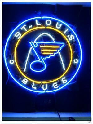 "New St Louis Blues Logo Bar Beer Lamp Neon Light Sign 24/""x24/"""