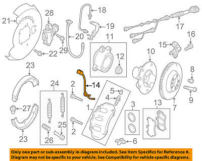 VW VOLKSWAGEN OEM Touareg Front Brake-Disc Pad Wear Indicator Sensor 7P0907637