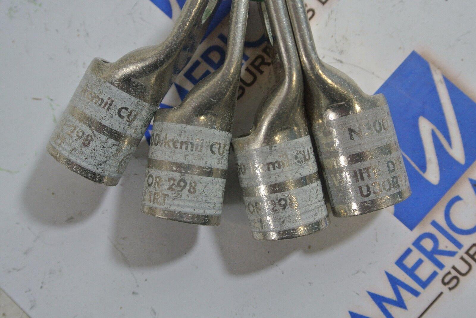 Lot of 4 New BURNDY YA30L  Compression Lugs 300KCMIL WHITE