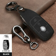 Genuine Mercedes-Benz Black Stainless Steel Leather Key Wallet Gen 6 B66958408