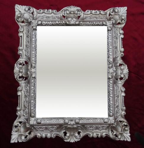 SET Barock Wandspiegel mit Konsole Spiegelkonsole in Antiksilber 44x38 cm Neu