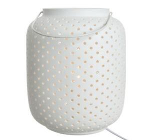 Tischleuchte-Nachttischlampe-Tischlampe-Nachttischleuchte-Porzellan-mattweiss-E14