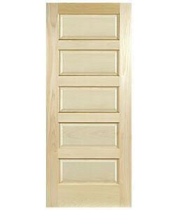 Clear maple 5 panel equal raised stain grade solid core - Solid wood raised panel interior doors ...