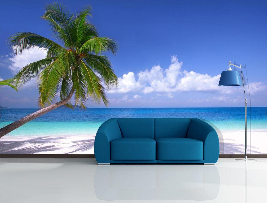 3D Beach Sea Coconut Trees 0382 Wall Paper Wall Print Decal Wall AJ WALLPAPER CA