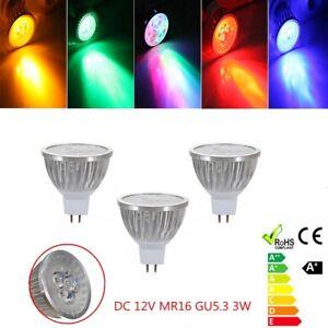 Dc 12v Mr16 Gu5 3 3w Led Bulbs Light Lamp Rgb Colorful Spotlight