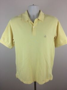Brooks Brothers 346 Polo Shirt Men s Size Medium Yellow 100% Cotton ... b4b25d0a4
