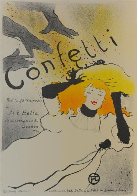 Toulouse Lautrec Confetti Vintage Poster Fine Art Lithograph S2