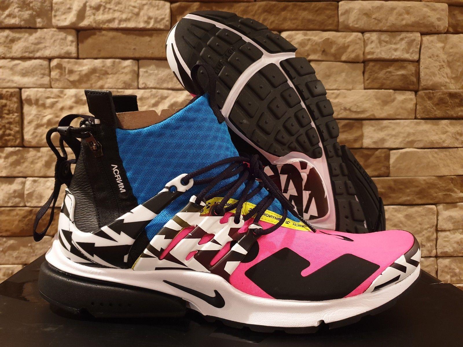 Acrónimo X Nike Aire Presto Mid 4-14 Racer rose noir bleu Ah7832-600