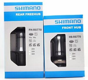 01872899e79 Shimano Cyclocross Rear FH-RS770 + Front HB-RS770 Hubs Set 28H 10/11 ...