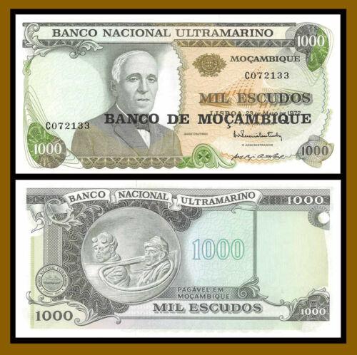 P-119 //LA123 1976 Mozambique 1000 10 Pcs Lot 1972 Escudos 1,000