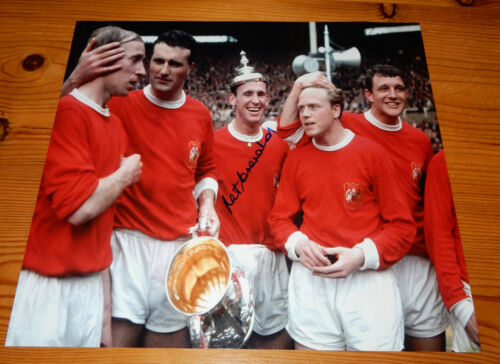 Manchester United 1963 F.A. Cup Winners Pat Crerand SIGNED Photo