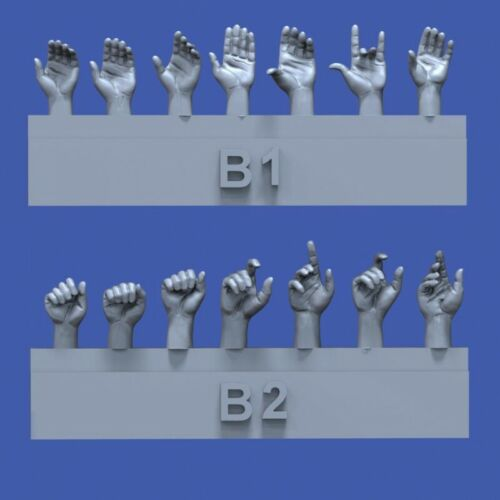 Royal Models 1//35 Assorted Hands Set No.2