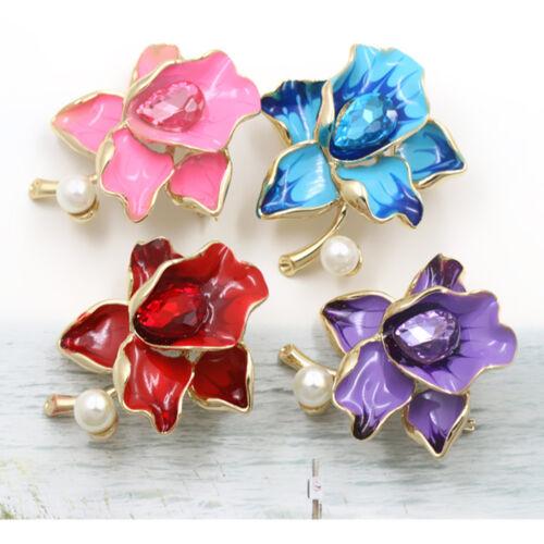 1PC Trendy femmes strass fleur en forme d/'alliage Broche Pin Fashion Jewelry Cadeaux