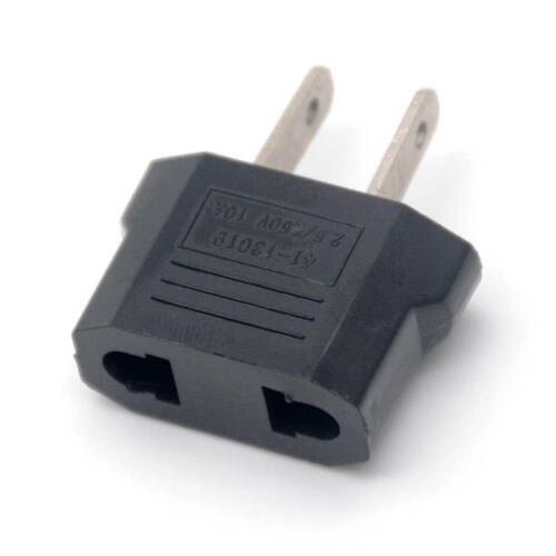 2Pcs EU to US USA Travel Charge Adapter AC Plug Jack Converter Outlet Power