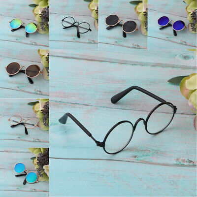 1//6 Scale Doll Round Golden Frame Eyeglasses Sunglasses For Blythe Dolls Charms