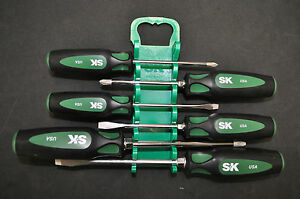 sk 86336 6 piece cushiongrip screwdriver set made in usa brand new ebay. Black Bedroom Furniture Sets. Home Design Ideas
