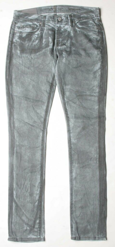 7 For All Mankind Roxanne Classic Skinny Jeans 25 Grey P179729S