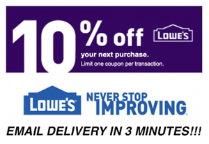 THREE-3X-Lowes-10-OFF-Promotion-Discount-In-store-online-Fast-Delivery