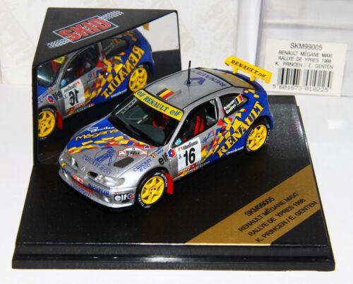 1/43 Vitesse Skid Skm99005 Renault Mégane Maxi Rallye De Ypres 1998 Princen Rare