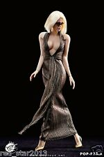 "POPTOYS 1/6 Women Female Marilyn Monroe Dress Clothes Suit For 12"" Figure Golden"