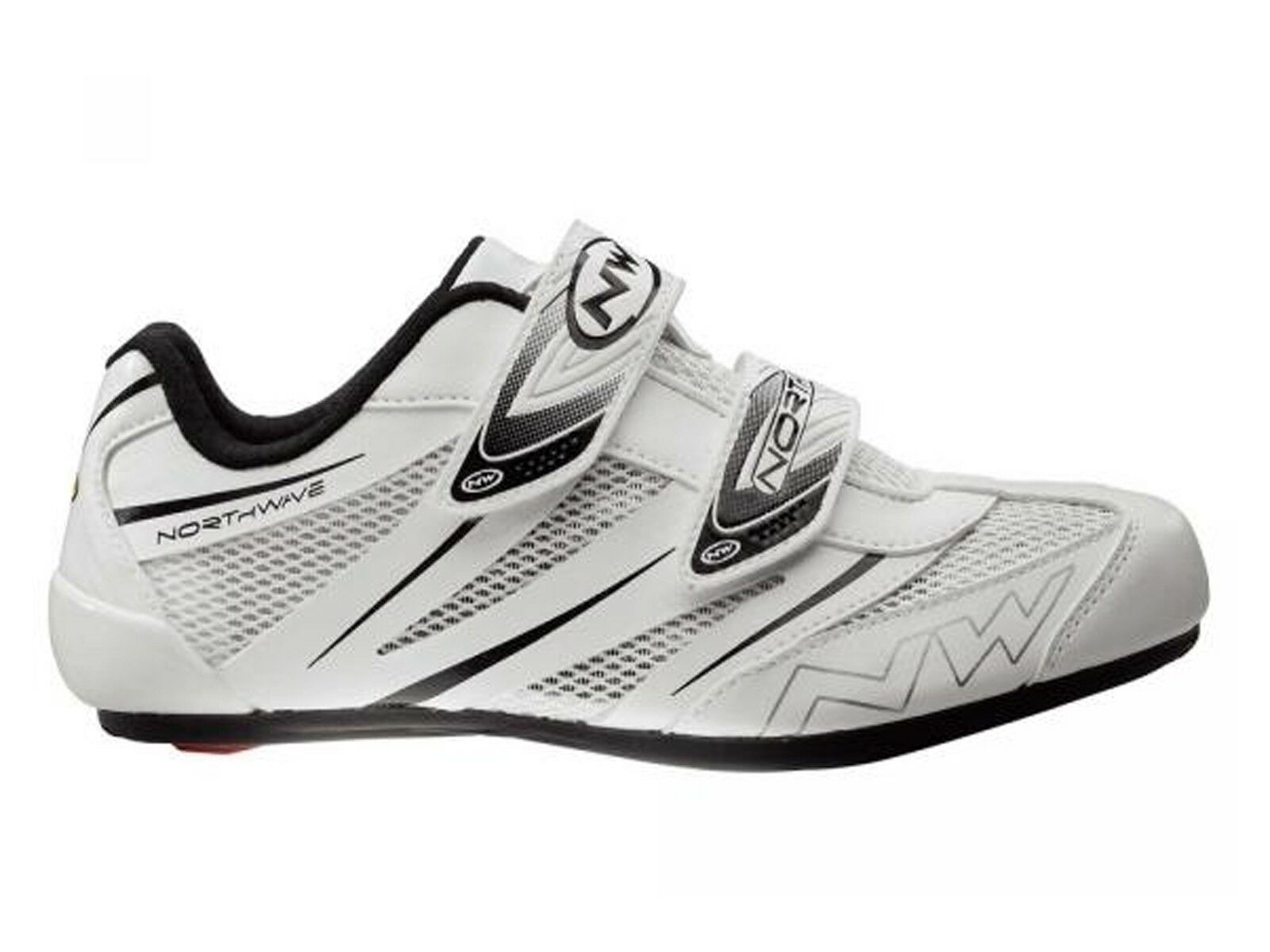 shoes CICLISMO STRADA men NORTHWAVE  80121008 JET PRO WHITE