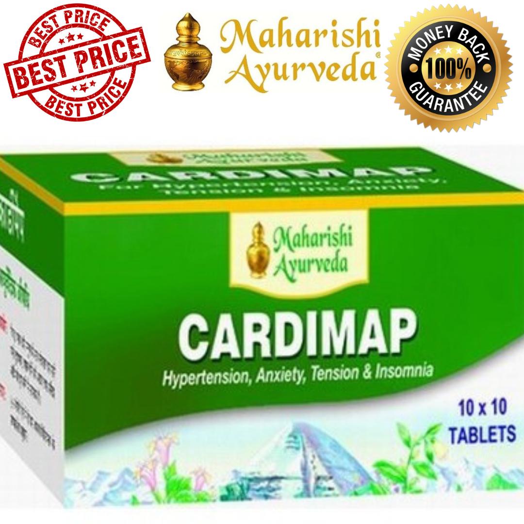 Maharishi Ayurveda Cardimap For Hypertension, Blood Pressure Pure Herbal Tablets 1