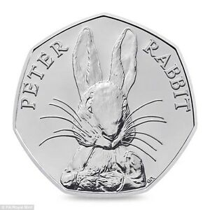 2016-50P-COIN-PETER-RABBIT-UNCIRCULATED-RARE-FIFTY-PENCE-BEATRIX-POTTER