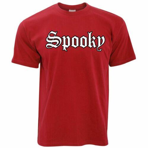 "Halloween T Shirt juste le mot /""SPOOKY/"" Parti Costume Effrayant Trick Traiter"